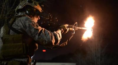 Delta Force operators during a nighttime operation against ISIS in Iraq. (Image courtesy of YouTube)