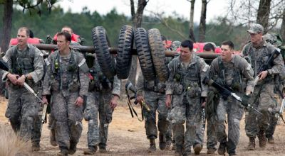 SF candidates suffering through Team Week. (Image courtesy of the US Army).