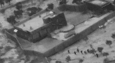 (Photo of Delta Force raid on the al-Baghdadi compound: Dept. of Defense)