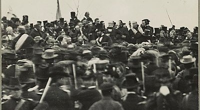 Photo of Lincoln at Gettysburg: National Archives