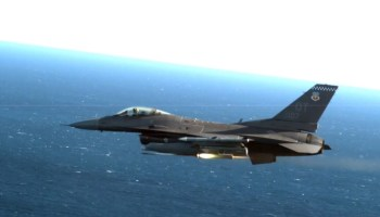 An Air Force F-16 just shot down a cruise missile with a laser guided rocket