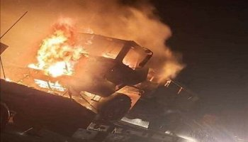 Iranian-led militias attack & destroy US logistical convoy in Iraq