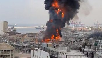Another Huge Fire Erupts on Beirut's Port Panicking the Citizens