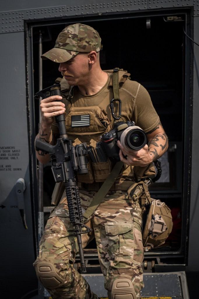 For a combat cameraman, life in uniform is art