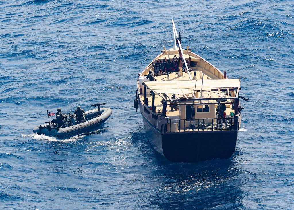 Russian weapons seized off the coast of Somalia where Iran operates