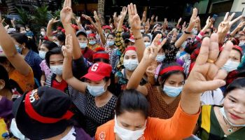 Myanmar Coup Protests Grow, Demand the Release of Aung San Suu Kyi