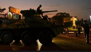 Armored Vehicles Roll Into Myanmar, Internet Shut Down