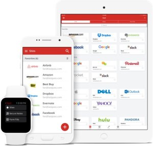 Shows all lastpass apps