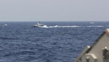 US Coast Guard Cutter Fires at Iranian Boats in the Gulf