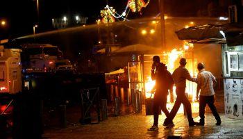 Israel Attacks 130 Targets in Gaza as Rockets Fly Into Jerusalem