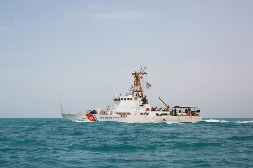 The U.S. Coast Guard Cutter Maui, patrols in the Persian Gulf.