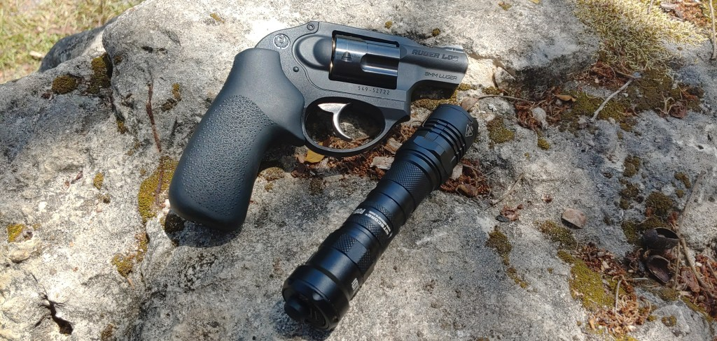 A 9mm revolver