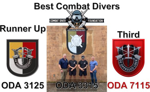 The winners of 2021's Combat Diver Competition