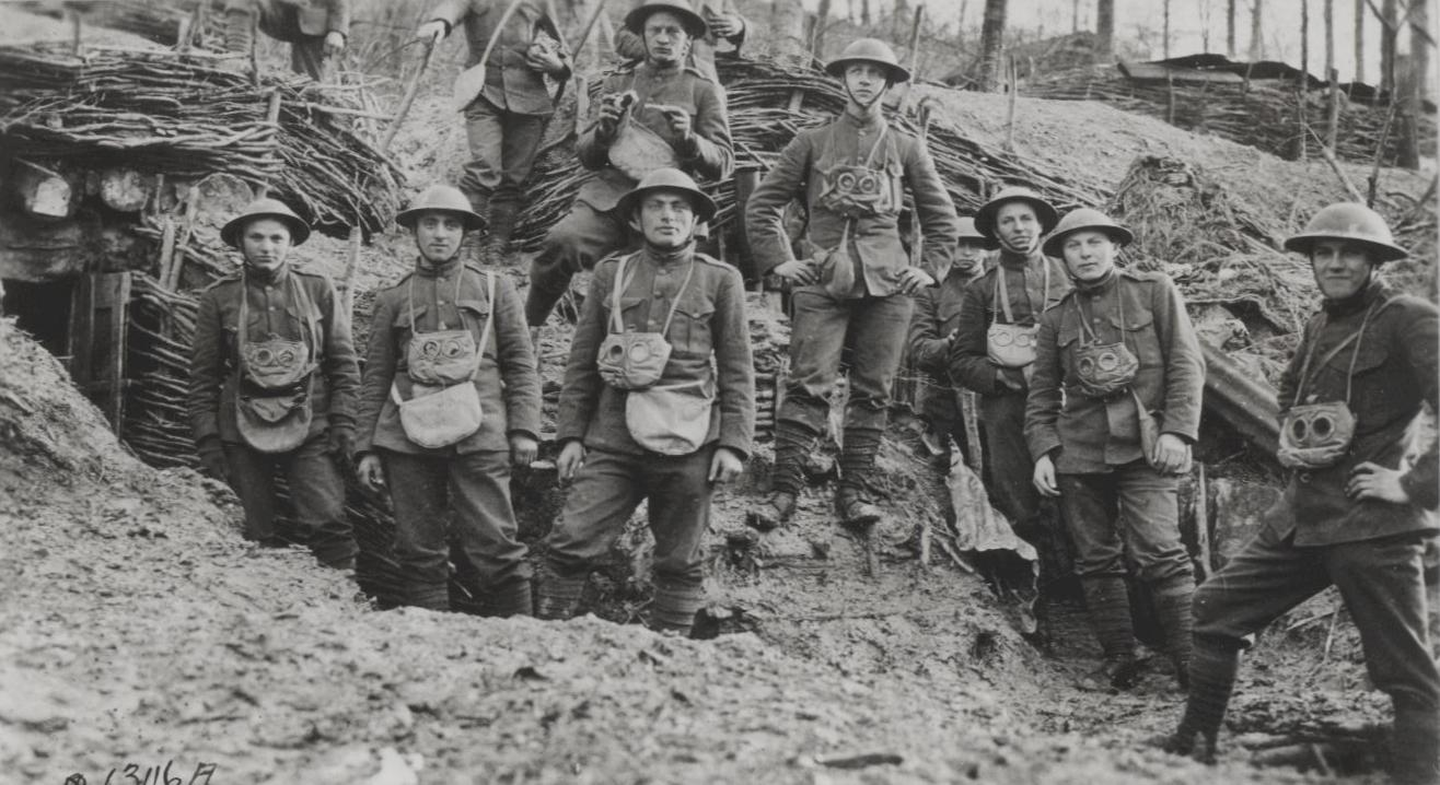 U.S. Marines in France during WWI.
