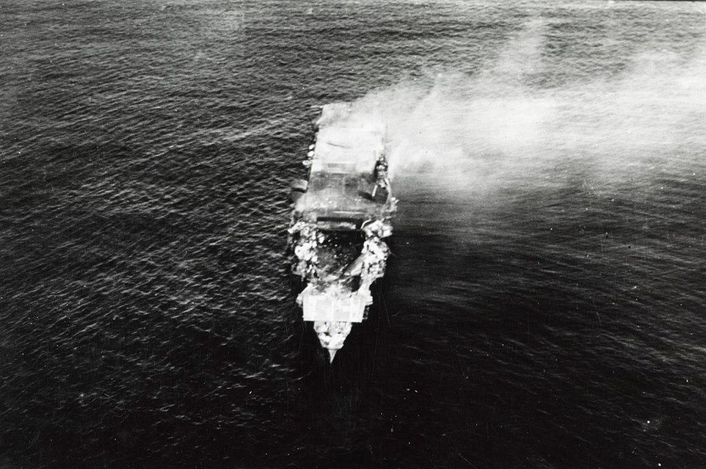 The Japanese aircraft carrier Hiryu