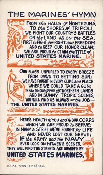 The Marine Corps Hymn