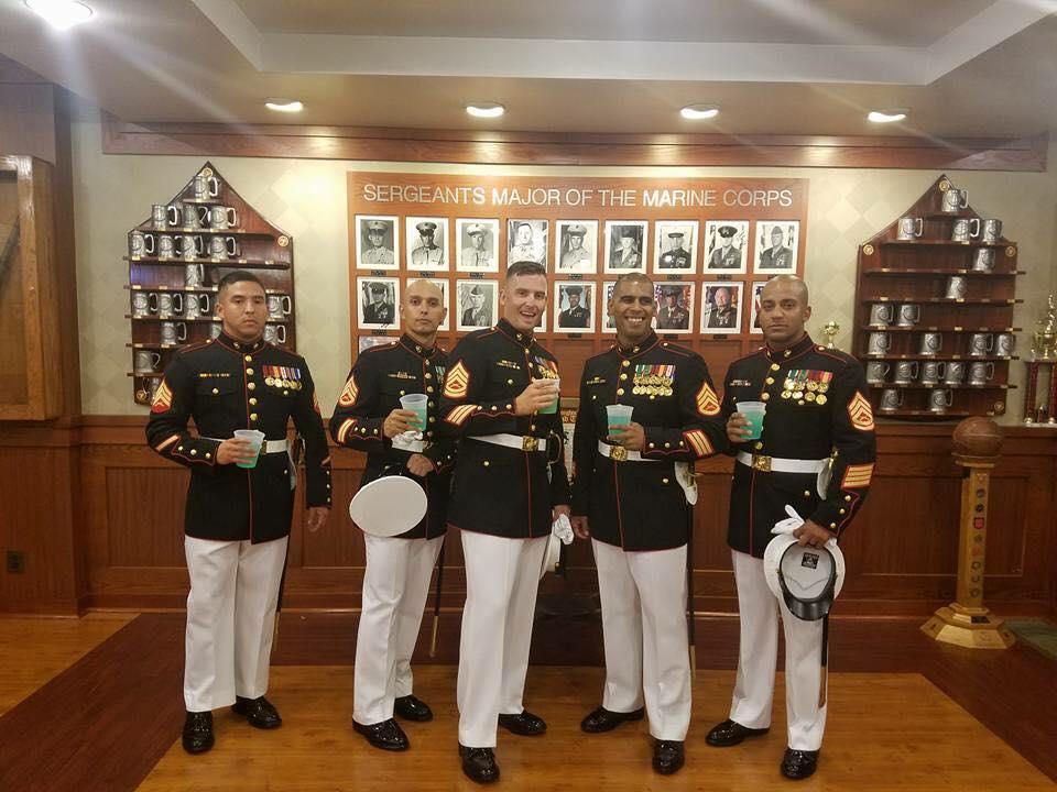Washington DC SNCO Club Marines Chain of Command