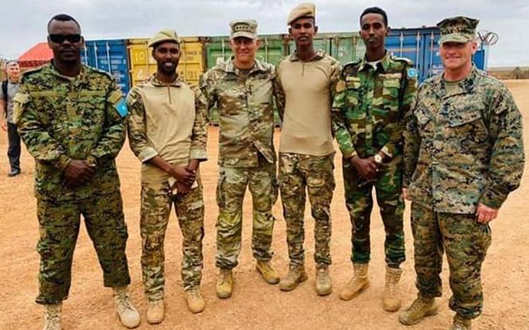 General Townsend ment with Danab operators in Somalia.