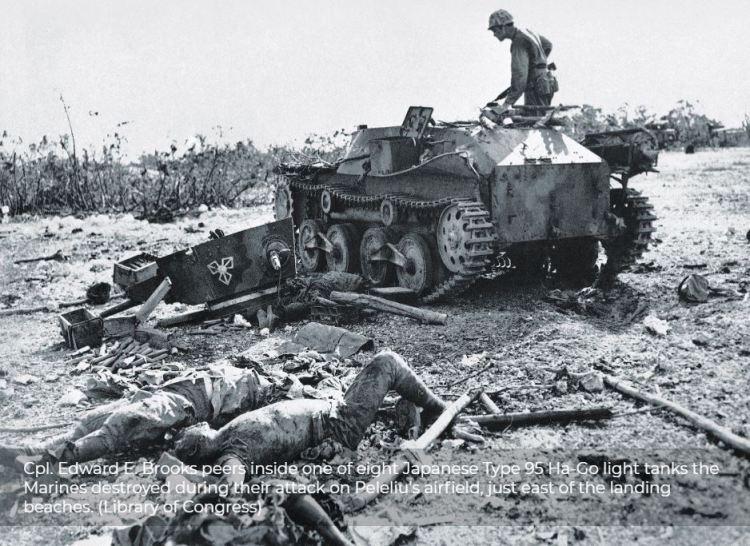 Type 95 Ha-Go light tank Battle of Peleliu
