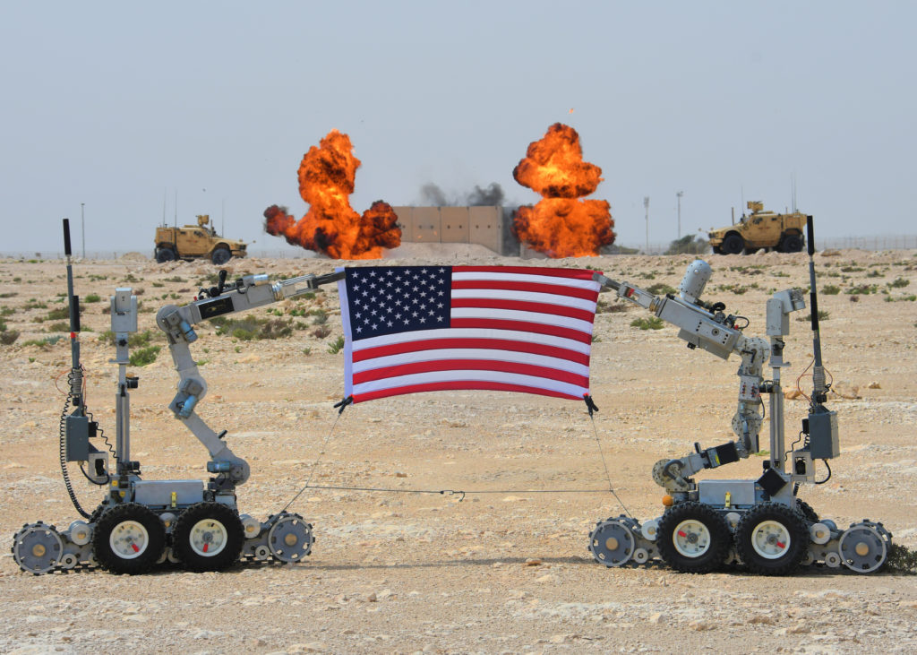 Air Force EOD robots