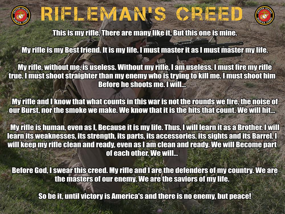 Marine Corps Rifleman's Creed