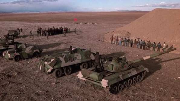 A scene from Red Dawn