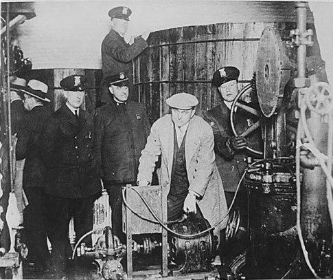 underground brewery prohibition raid