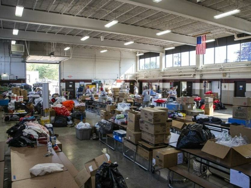 Fort McCoy clothes donations supplies Afghans