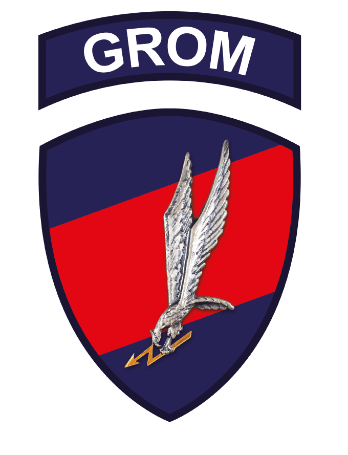 GROM logo and patch
