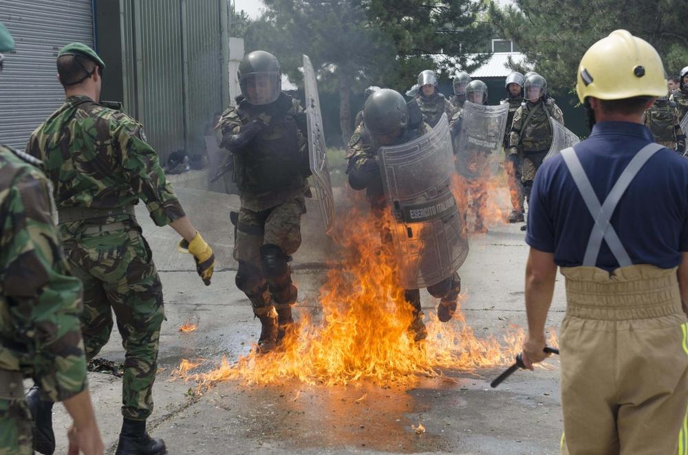 military fire phobia training
