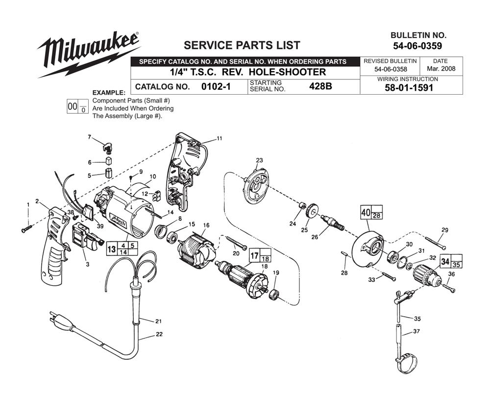 Buy Milwaukee 0102-1-(428B) 1/4