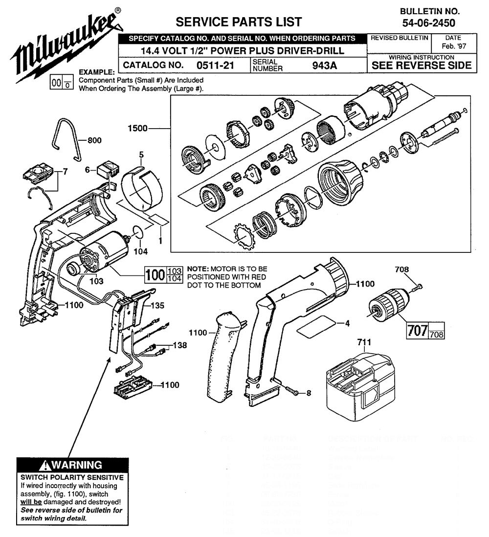 Buy Milwaukee 0511-21-(943A) 14.4 volt 1/2