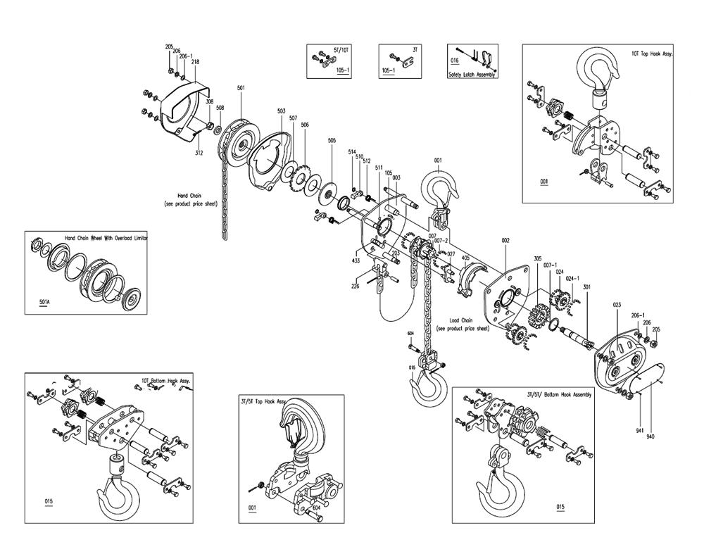 1 ton chain fall by buy jet 101704 smh 1t 10 1 ton 10 foot lift