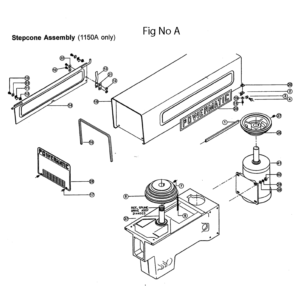 Powermatic 1150a Parts