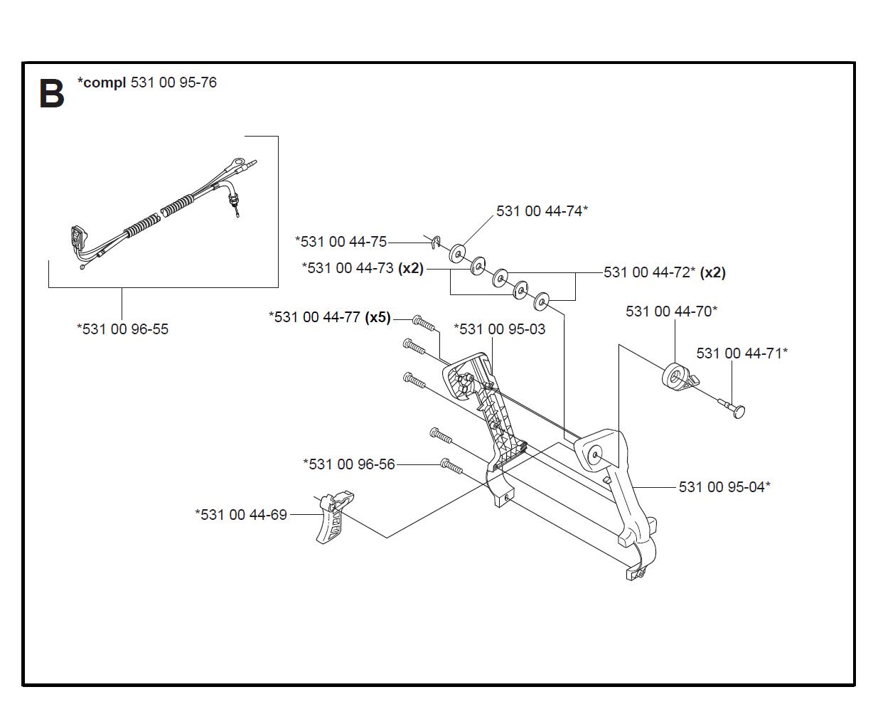 Buy Husqvarna 125bt Type 4 Replacement Tool Parts
