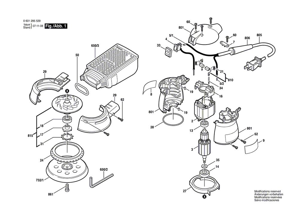 Buy Bosch 1295DH (0601295539) Random Orbit Replacement