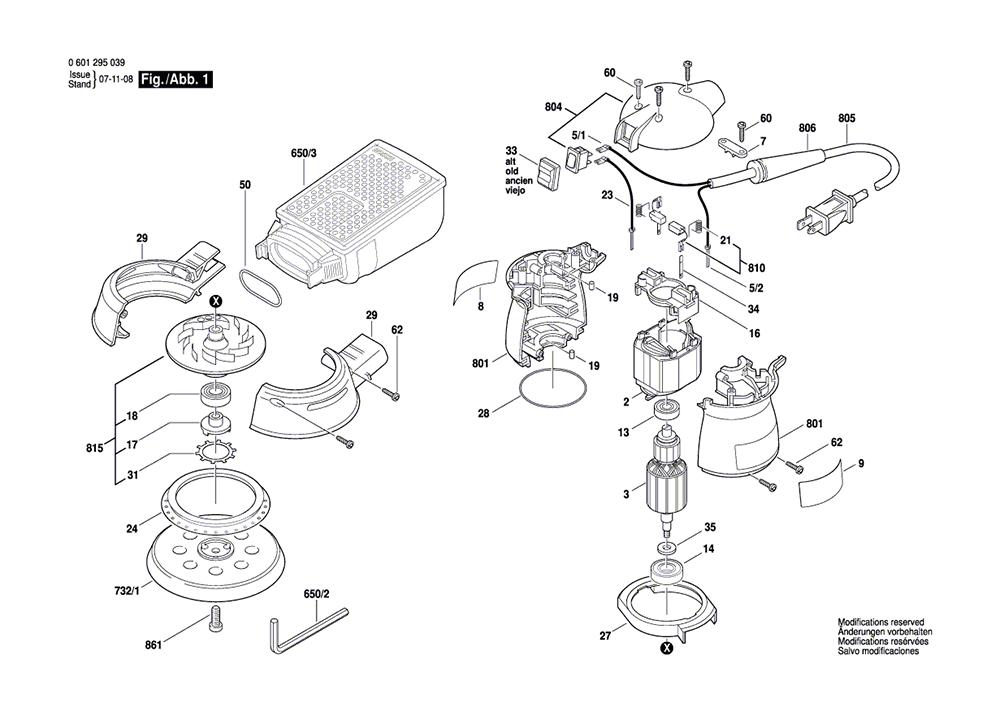 Buy Bosch 1295DP (0601295139) Random Orbit Replacement