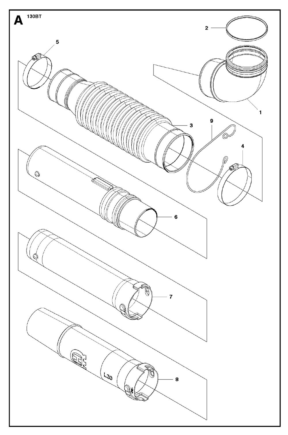 Buy Husqvarna 130BT Type-1 Replacement Tool Parts