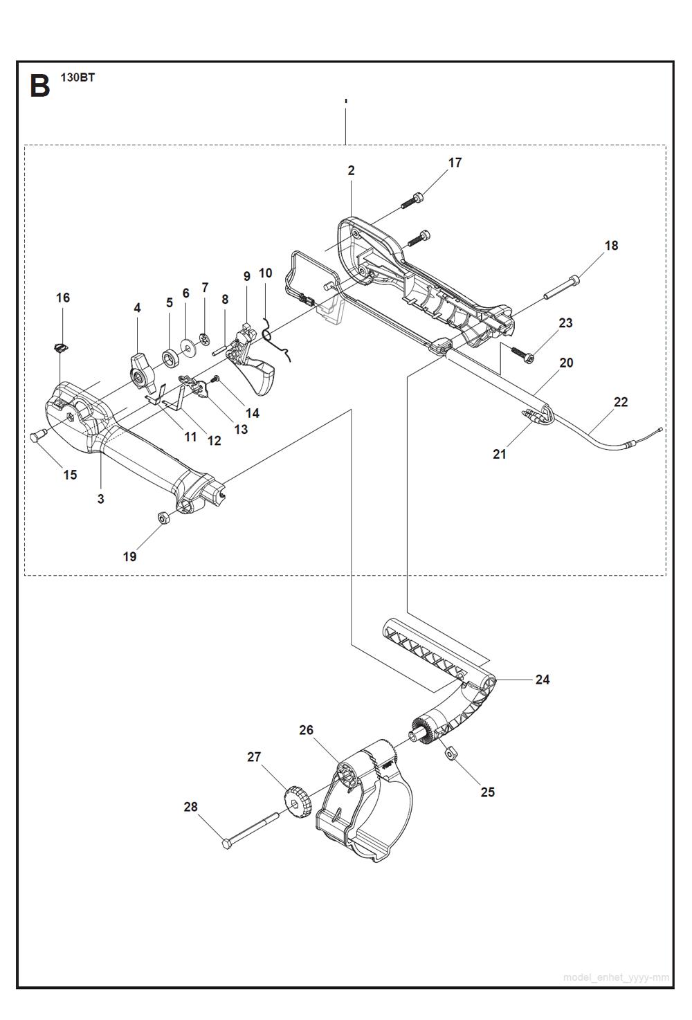 Buy Husqvarna 130BT Type-2 Replacement Tool Parts