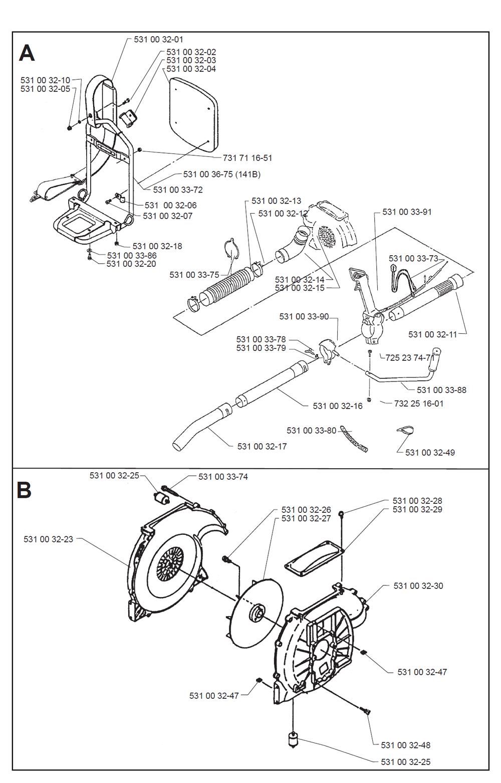 Buy Husqvarna 140B Type-1 Replacement Tool Parts