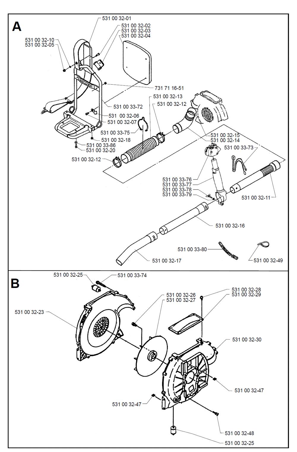 Buy Husqvarna 140B Type-2 Replacement Tool Parts
