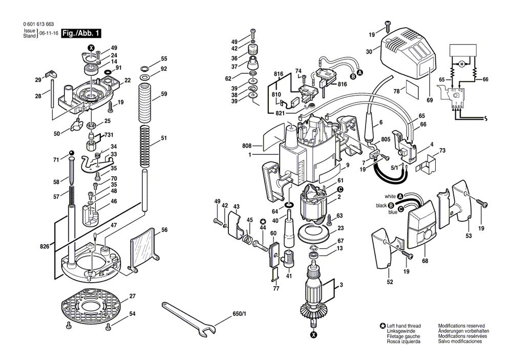 Buy Bosch 1613AEVS 2.25 HP Electronic VS Plunge