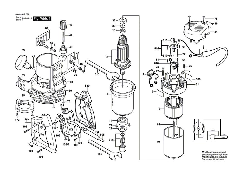 Buy Bosch 1618 (0601618139) 2 HP Fixed-Base,