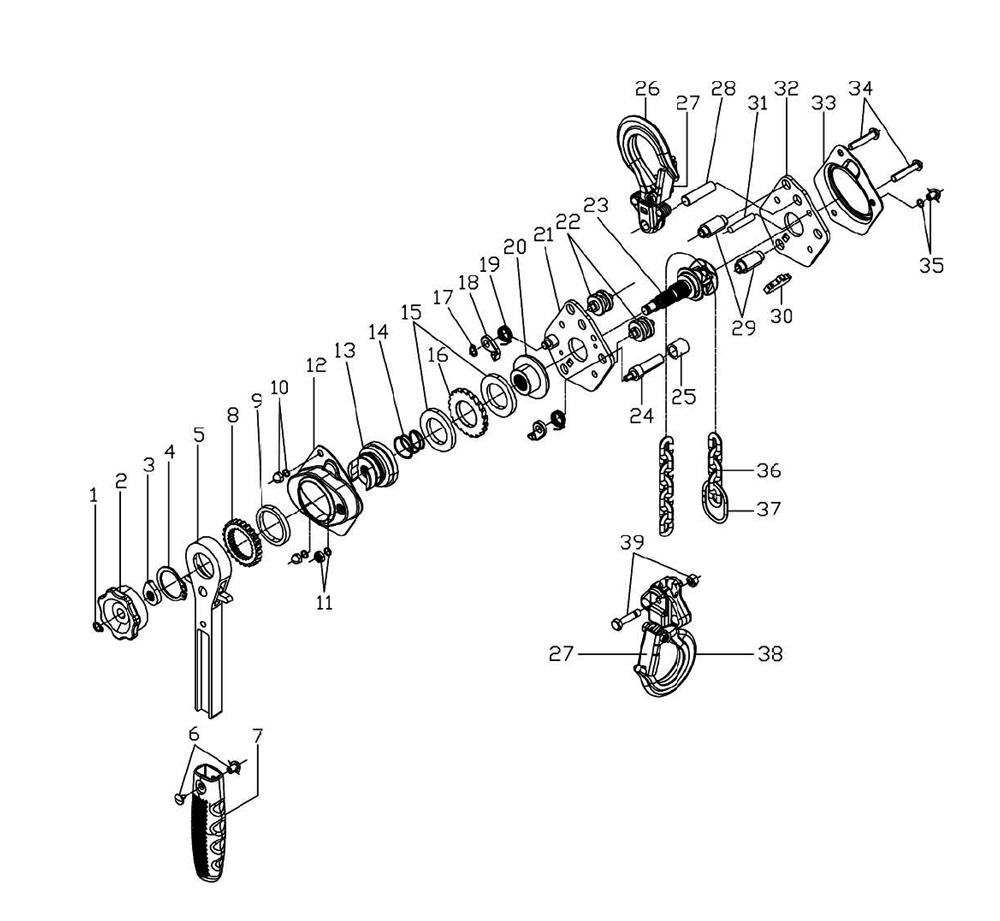 hight resolution of 3 4 ton chain hoist diagram 97 3 4 liter 4runner engine diagram