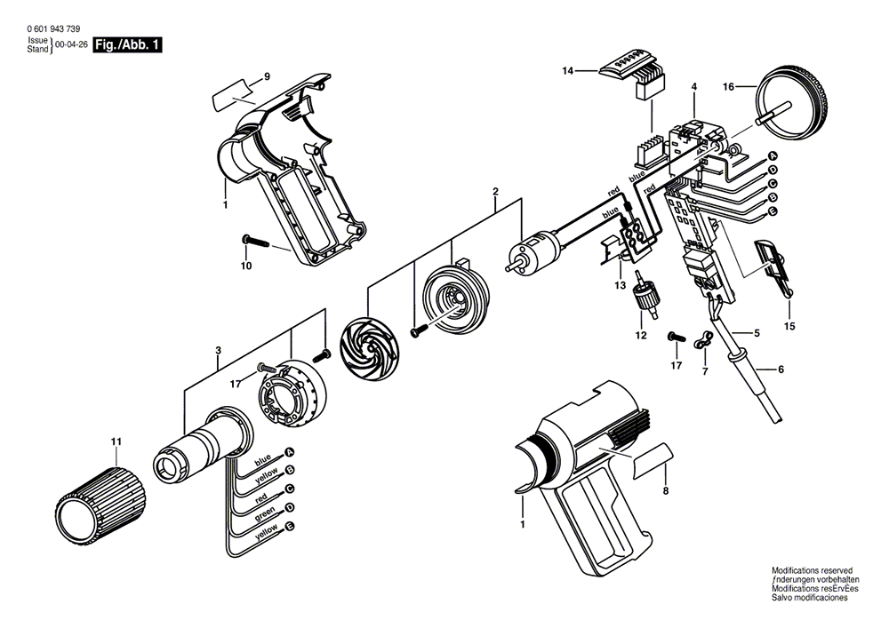 Buy Bosch 1943LED (0601943739) Electronic Heat Gun