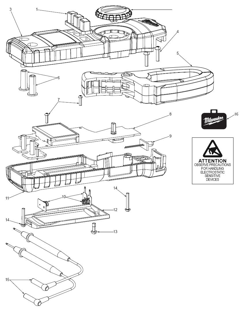 Buy Milwaukee 2235-20 400 Amp Clamp Meter Replacement Tool