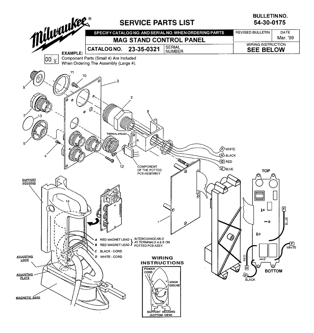 Buy Milwaukee 23-35-0321 mag stand control panel