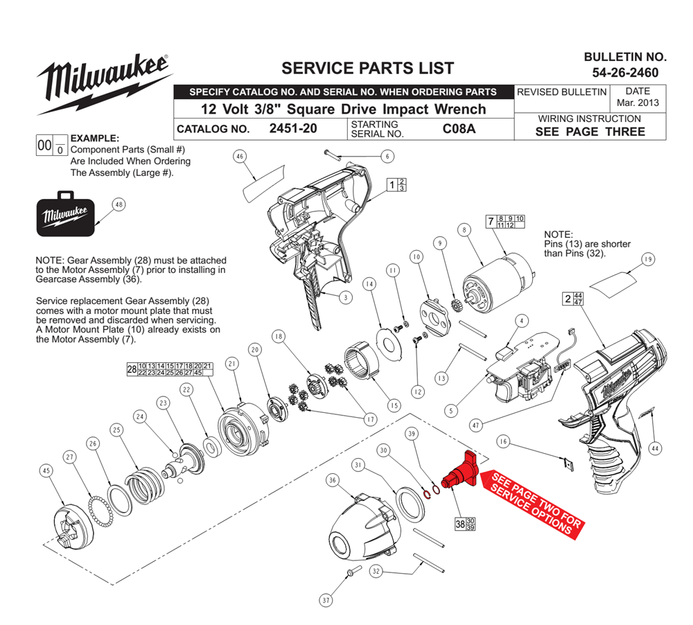 Buy Milwaukee 2451-20-(C08A) 3/8 Inch 12 Volt M12 Square