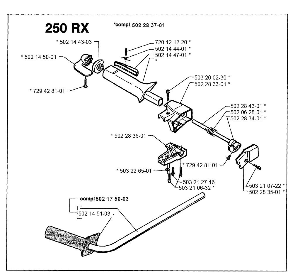 Buy Husqvarna 250 RX-(I9500267) Replacement Tool Parts