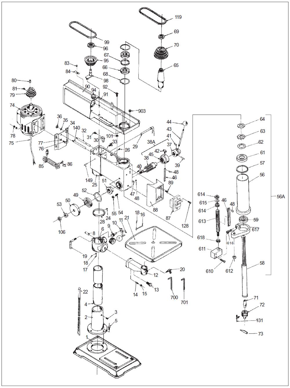 Dayton Drill Press Wiring Diagram Drill Press Operation